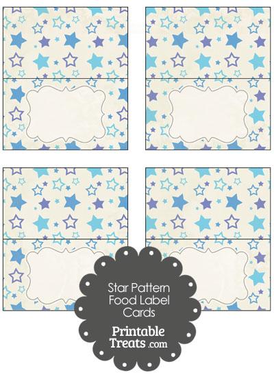 Vintage Blue Star Pattern Food Labels from PrintableTreats.com