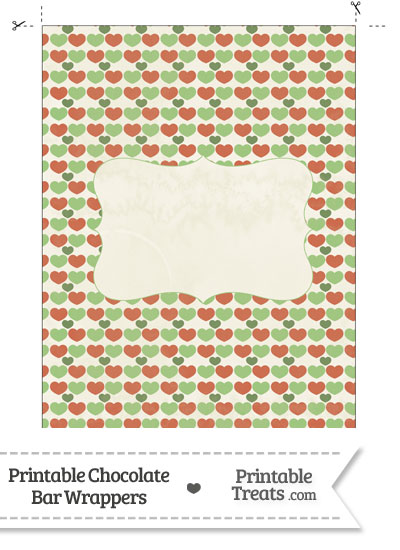 Vintage Christmas Hearts Chocolate Bar Wrappers from PrintableTreats.com