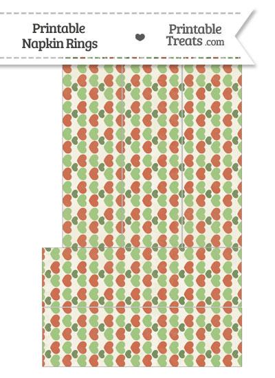 Vintage Christmas Hearts Napkin Rings from PrintableTreats.com