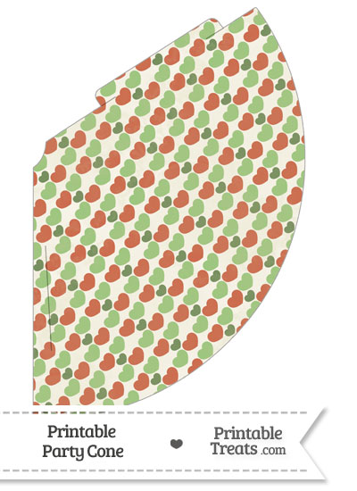 Vintage Christmas Hearts Party Cone from PrintableTreats.com