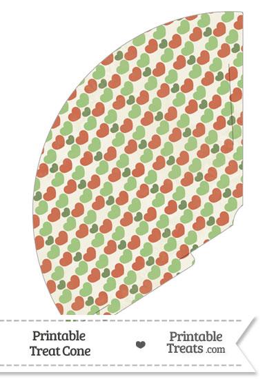 Vintage Christmas Hearts Treat Cone from PrintableTreats.com
