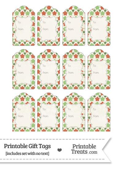 Vintage Christmas Stars Gift Tags from PrintableTreats.com