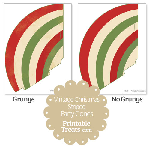 vintage christmas striped party cones