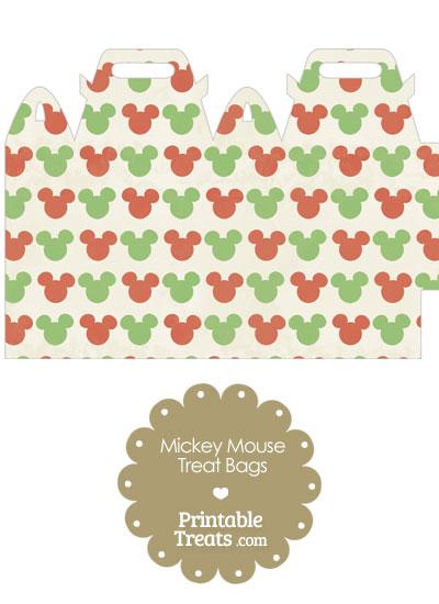 Vintage Mickey Mouse Christmas Treat Bag from PrintableTreats.com