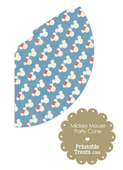 Vintage Minnie and Mickey Snow Theme Party Cone from PrintableTreats.com