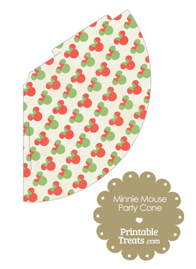 Vintage Minnie Mouse Christmas Party Cone from PrintableTreats.com