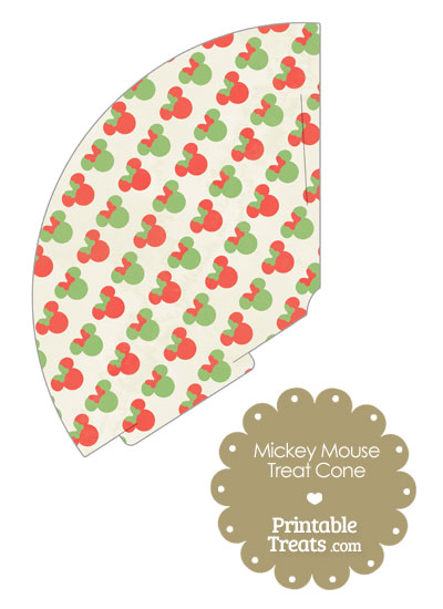 Vintage Minnie Mouse Christmas Treat Cone from PrintableTreats.com