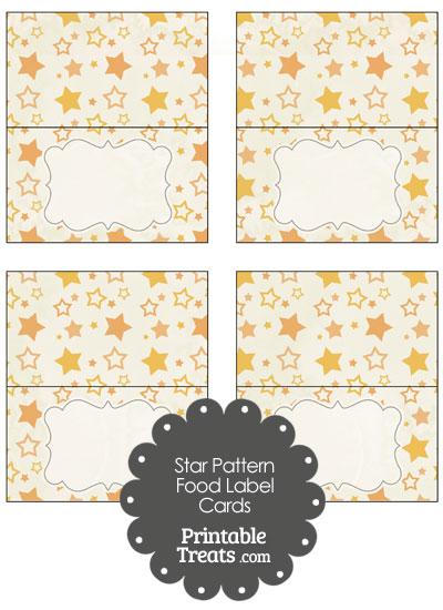 Vintage Orange Star Pattern Food Labels from PrintableTreats.com