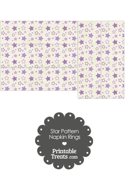 Vintage Purple Star Pattern Napkin Rings from PrintableTreats.com