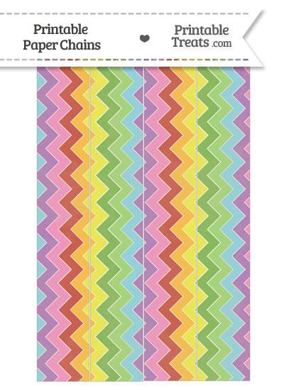 Vintage Rainbow Chevron Paper Chains from PrintableTreats.com