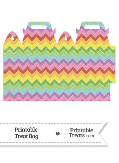 Vintage Rainbow Chevron Treat Bag from PrintableTreats.com