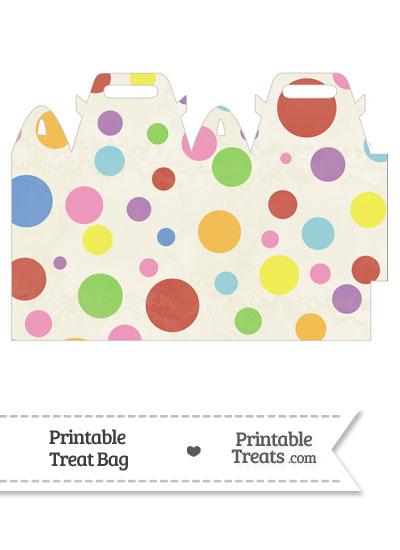 Vintage Rainbow Dots Treat Bag from PrintableTreats.com