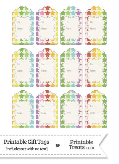 Vintage Rainbow Stars Gift Tags from PrintableTreats.com