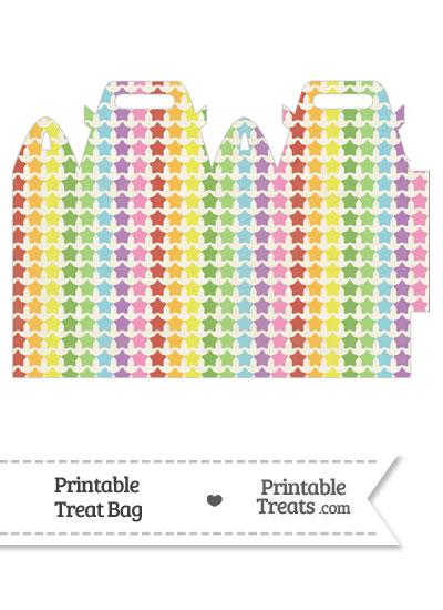 Vintage Rainbow Stars Treat Bag from PrintableTreats.com