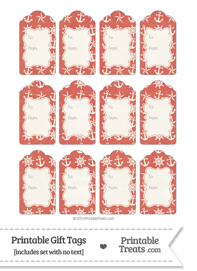 Vintage Red Nautical Gift Tags from PrintableTreats.com