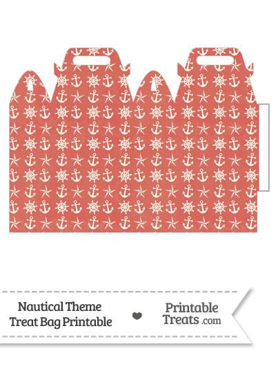 Vintage Red Nautical Treat Bag from PrintableTreats.com