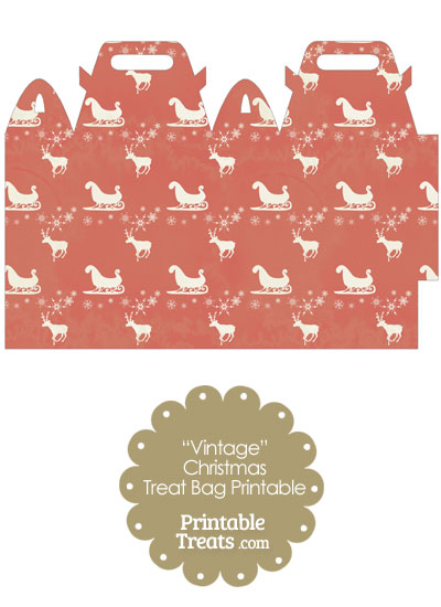 Vintage Santas Sleigh Treat Bag from PrintableTreats.com