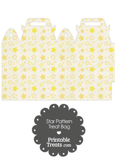 Vintage Yellow Star Pattern Treat Bag from PrintableTreats.com