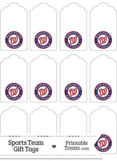 Washington Nationals Gift Tags from PrintableTreats.com