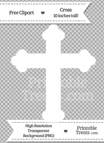 White Cross Clipart from PrintableTreats.com