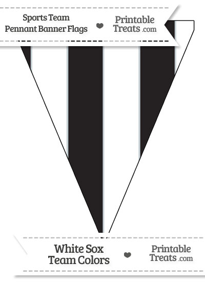 White Sox Colors Pennant Banner Flag from PrintableTreats.com