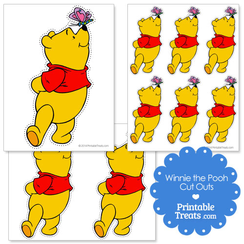 Winnie the Pooh with butterfly cut outs