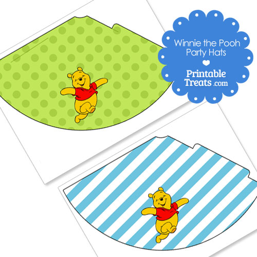 Winnie the Pooh party hats printable