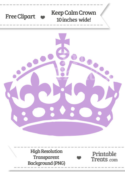 Wisteria Keep Calm Crown Clipart from PrintableTreats.com