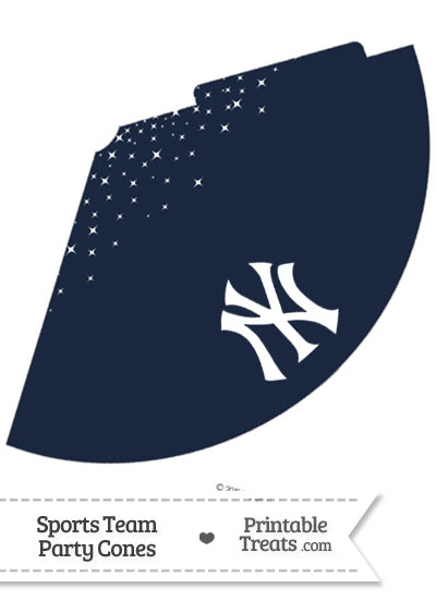 Yankees Party Cone Printable from PrintableTreats.com