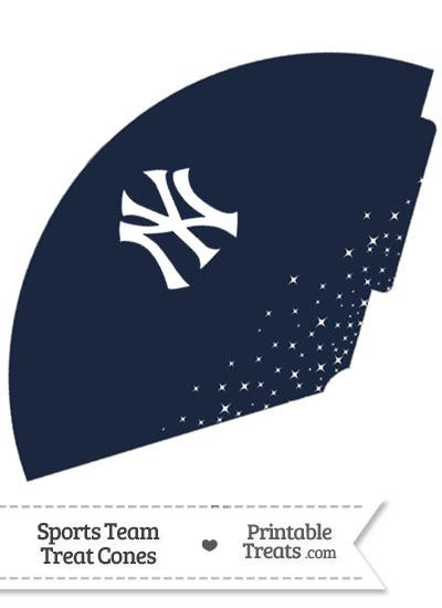 Yankees Treat Cone Printable from PrintableTreats.com