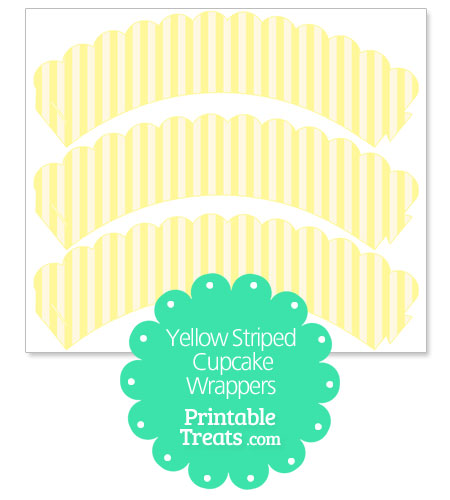 yellow and white striped cupcake wrappers