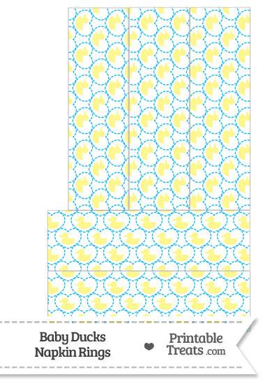 Yellow Baby Ducks Napkin Rings from PrintableTreats.com