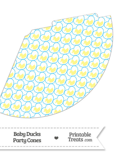Yellow Baby Ducks Party Cone from PrintableTreats.com