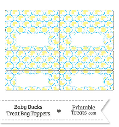 Yellow Baby Ducks Treat Bag Toppers from PrintableTreats.com