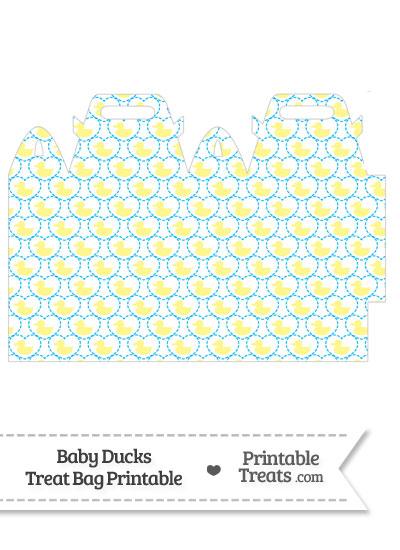 Yellow Baby Ducks Treat Bag from PrintableTreats.com