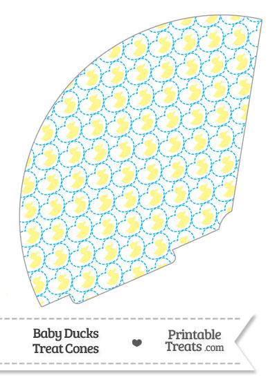 Yellow Baby Ducks Treat Cone from PrintableTreats.com