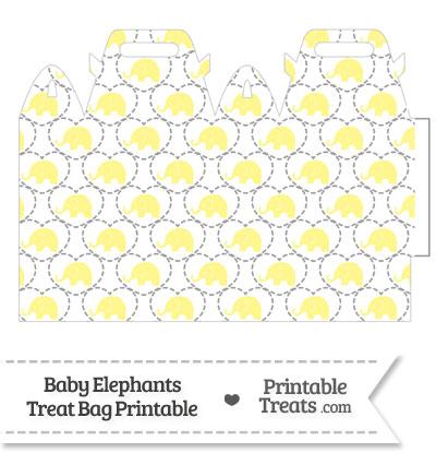 Yellow Baby Elephants Treat Bag from PrintableTreats.com