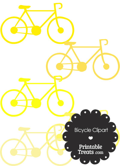 Yellow Bicycle Clipart from PrintableTreats.com