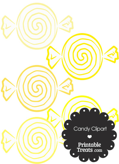 Yellow Candy Clipart from PrintableTreats.com