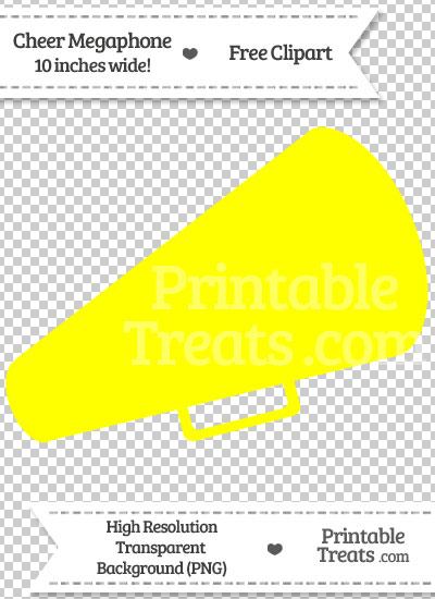 Yellow Cheer Megaphone Clipart from PrintableTreats.com