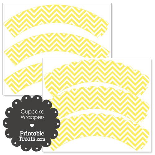 yellow chevron cupcake wrappers