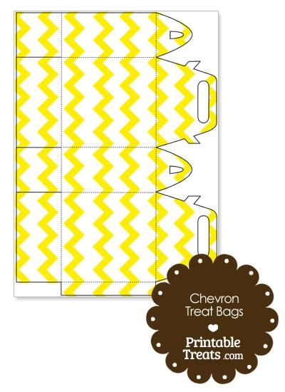 Yellow Chevron Treat Bags to Print from PrintableTreats.com