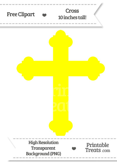 Yellow Cross Clipart from PrintableTreats.com