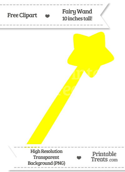Yellow Fairy Wand Clipart from PrintableTreats.com