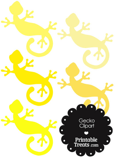 Yellow Gecko Clipart from PrintableTreats.com