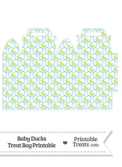 Yellow Green Baby Ducks Treat Bag from PrintableTreats.com