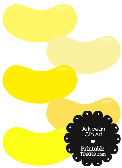 Yellow Jellybean Clipart from PrintableTreats.com