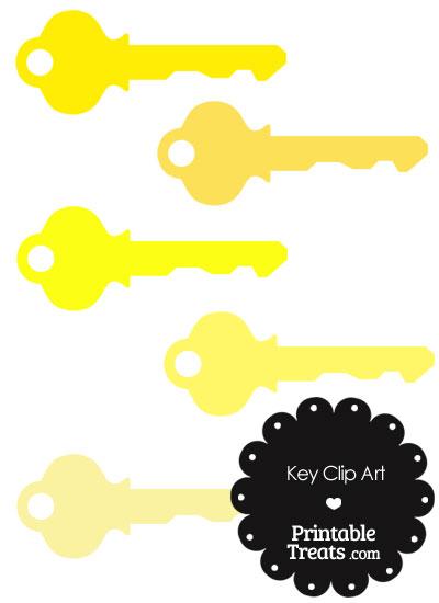 Yellow Key Clipart from PrintableTreats.com