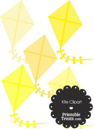 Yellow Kite Clipart from PrintableTreats.com