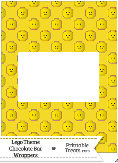 Yellow Lego Theme Chocolate Bar Wrappers from PrintableTreats.com